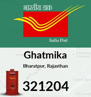 Ghatmika Pincode - 321204