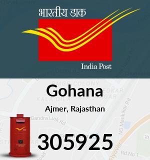 Gohana Pincode - 305925
