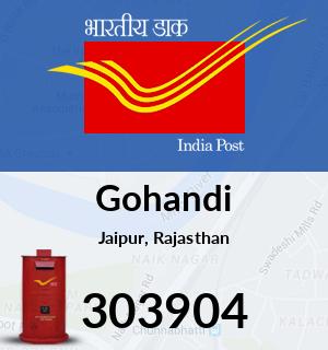 Gohandi Pincode - 303904