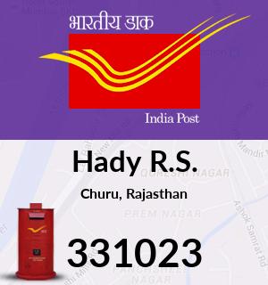 Hady R.S. Pincode - 331023