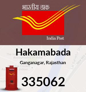 Hakamabada Pincode - 335062