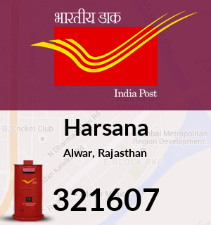 Harsana Pincode - 321607