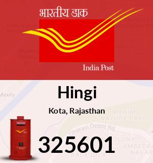 Hingi Pincode - 325601