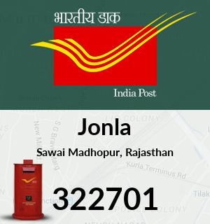 Jonla Pincode - 322701