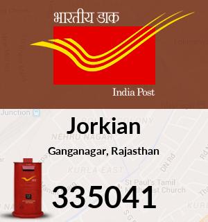 Jorkian Pincode - 335041