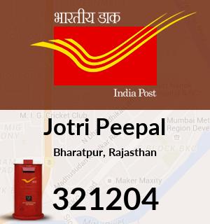 Jotri Peepal Pincode - 321204