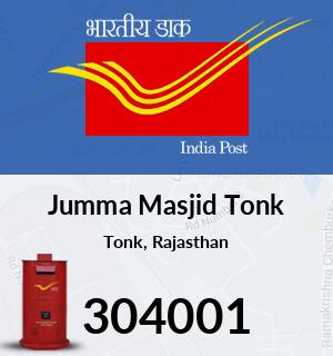 Jumma Masjid Tonk Pincode - 304001