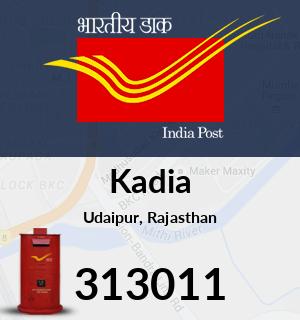 Kadia Pincode - 313011