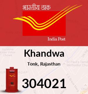 Khandwa Pincode - 304021