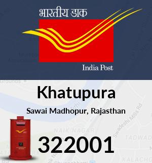Khatupura Pincode - 322001