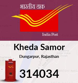 Kheda Samor Pincode - 314034