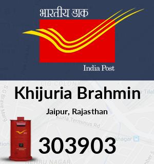 Khijuria Brahmin Pincode - 303903