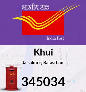 Khui Pincode - 345034