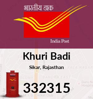 Khuri Badi Pincode - 332315