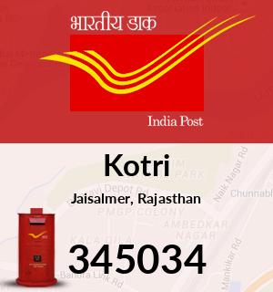 Kotri Pincode - 345034