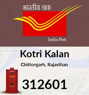 Kotri Kalan Pincode - 312601