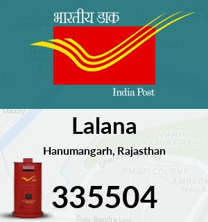Lalana Pincode - 335504