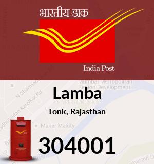 Lamba Pincode - 304001