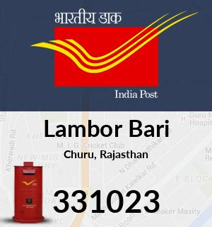 Lambor Bari Pincode - 331023