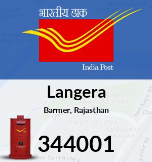 Langera Pincode - 344001