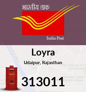 Loyra Pincode - 313011