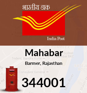 Mahabar Pincode - 344001