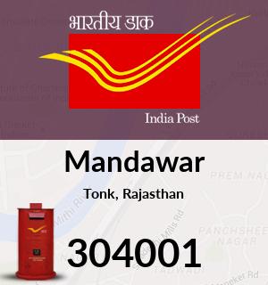 Mandawar Pincode - 304001
