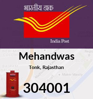 Mehandwas Pincode - 304001