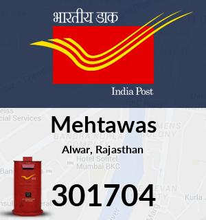 Mehtawas Pincode - 301704