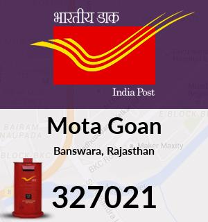 Mota Goan Pincode - 327021