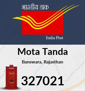 Mota Tanda Pincode - 327021