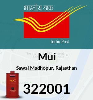 Mui Pincode - 322001