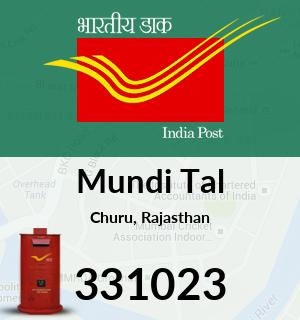 Mundi Tal Pincode - 331023