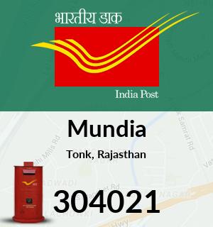Mundia Pincode - 304021