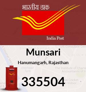 Munsari Pincode - 335504