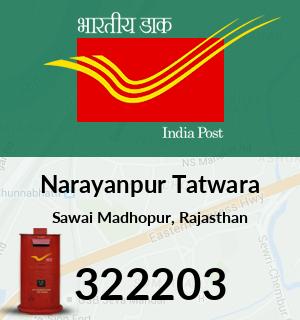 Narayanpur Tatwara Pincode - 322203