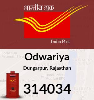 Odwariya Pincode - 314034