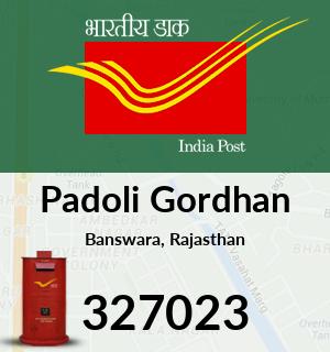 Padoli Gordhan Pincode - 327023