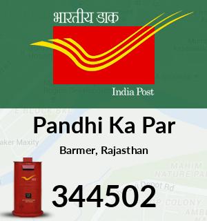 Pandhi Ka Par Pincode - 344502
