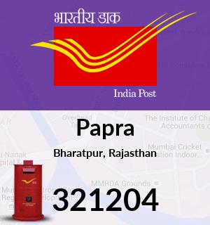 Papra Pincode - 321204