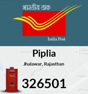 Piplia Pincode - 326501