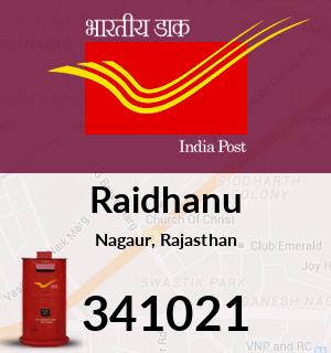Raidhanu Pincode - 341021