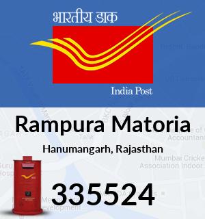 Rampura Matoria Pincode - 335524