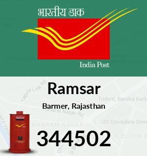 Ramsar Pincode - 344502
