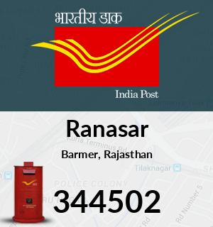 Ranasar Pincode - 344502