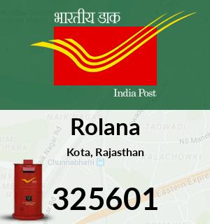 Rolana Pincode - 325601