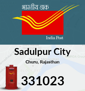 Sadulpur City Pincode - 331023