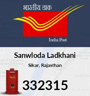 Sanwloda Ladkhani Pincode - 332315