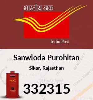 Sanwloda Purohitan Pincode - 332315