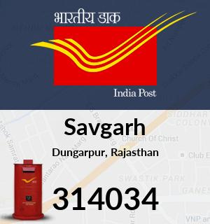 Savgarh Pincode - 314034